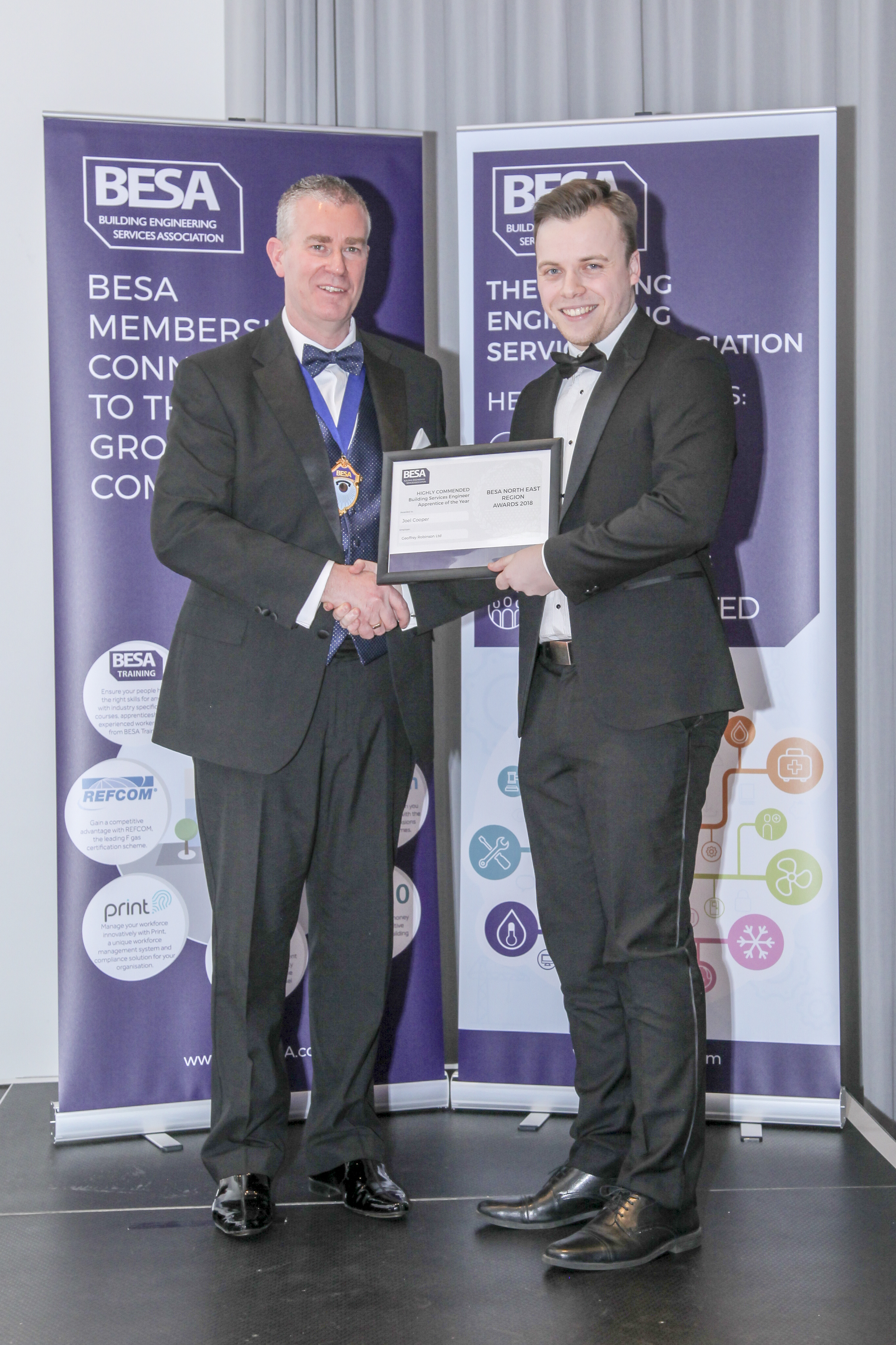 Highly Commended: Building Services Engineer Apprentice of the year - Joel Cooper, Geoffrey Robinson Limited