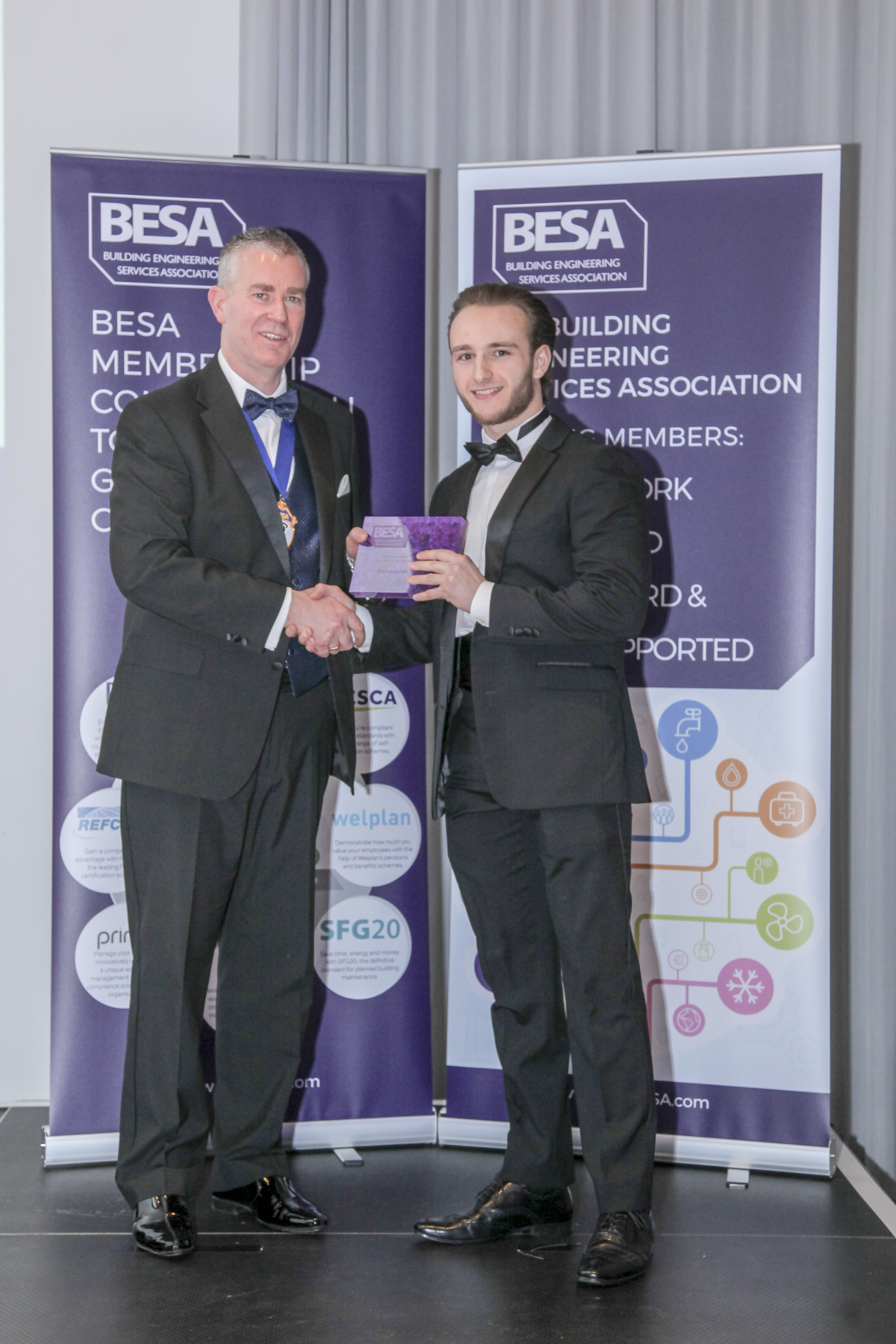 Winner: Building Services Engineer Apprentice of the year - Christopher Gibson, NG Bailey