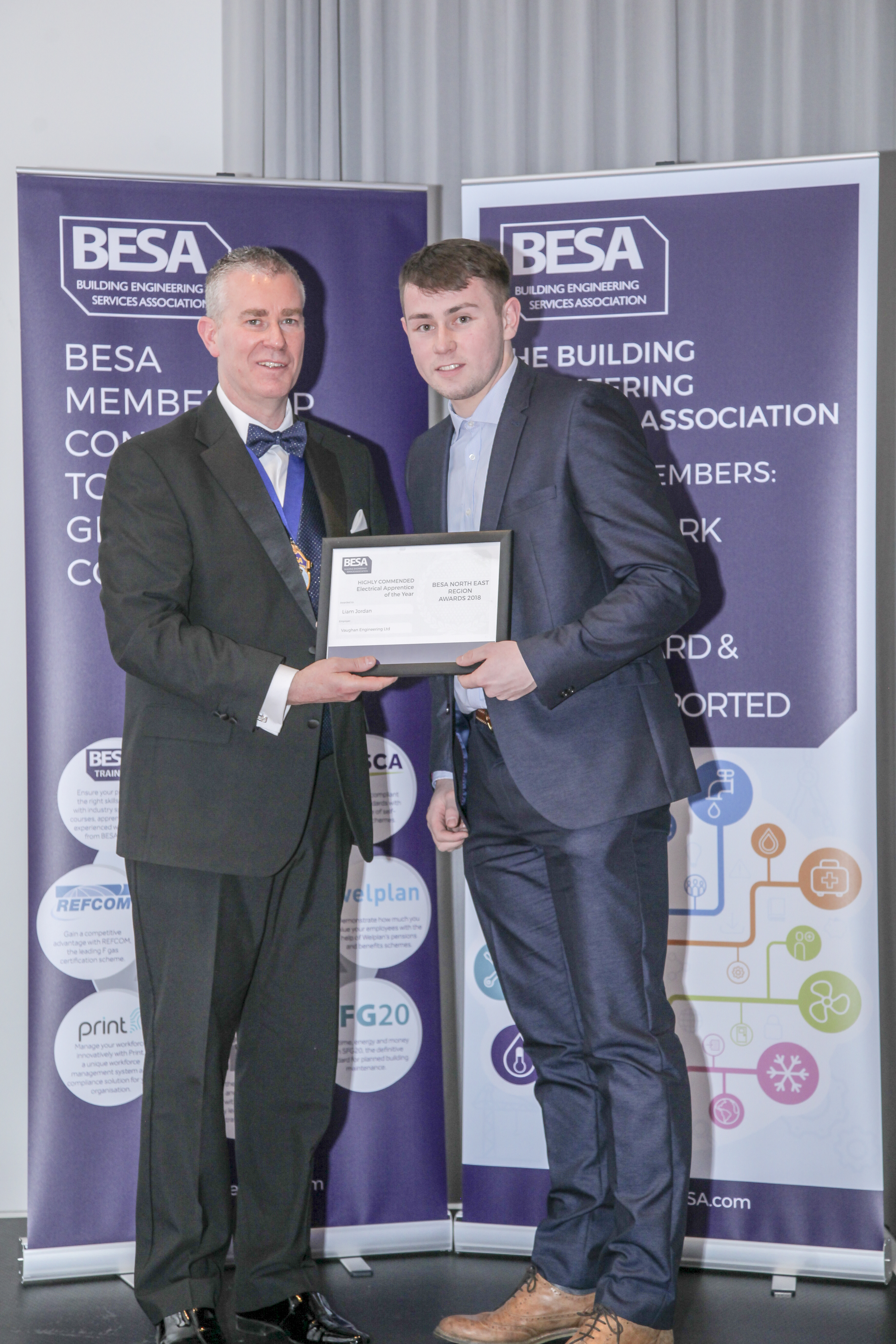 Highly commended: Electrical Apprenticeship of the year - Liam Jordan, Vaughan Engineering Ltd