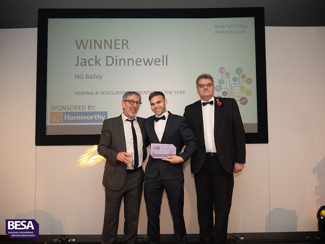 Jack Dinnewell, Winner of Heating & Ventilation Apprentice of the Year