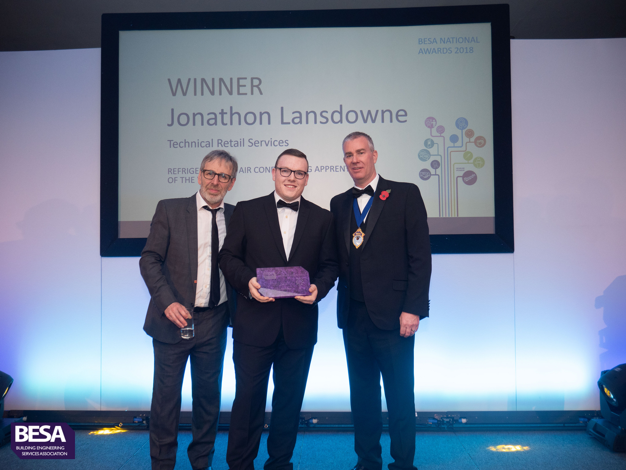 Jonathan Lansdowne, winner of Refrigeration & Air Conditioning Apprentice of the Year