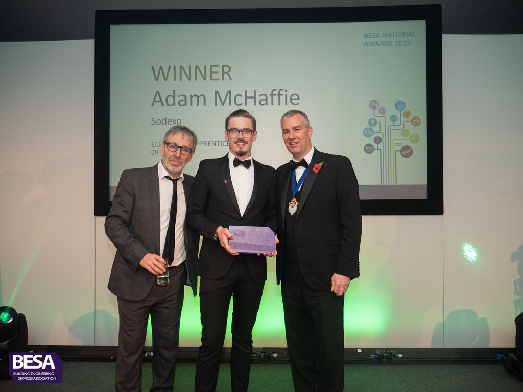 Adam McHaffie, Winner of Electrical Apprentice of the Year