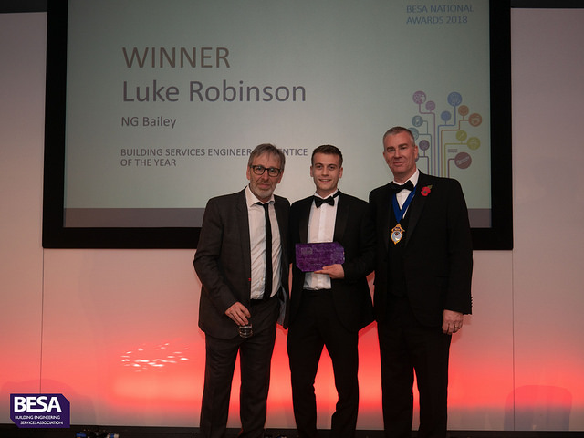 Luke Robinson, Winner of Building Services Engineer Apprentice of the Year