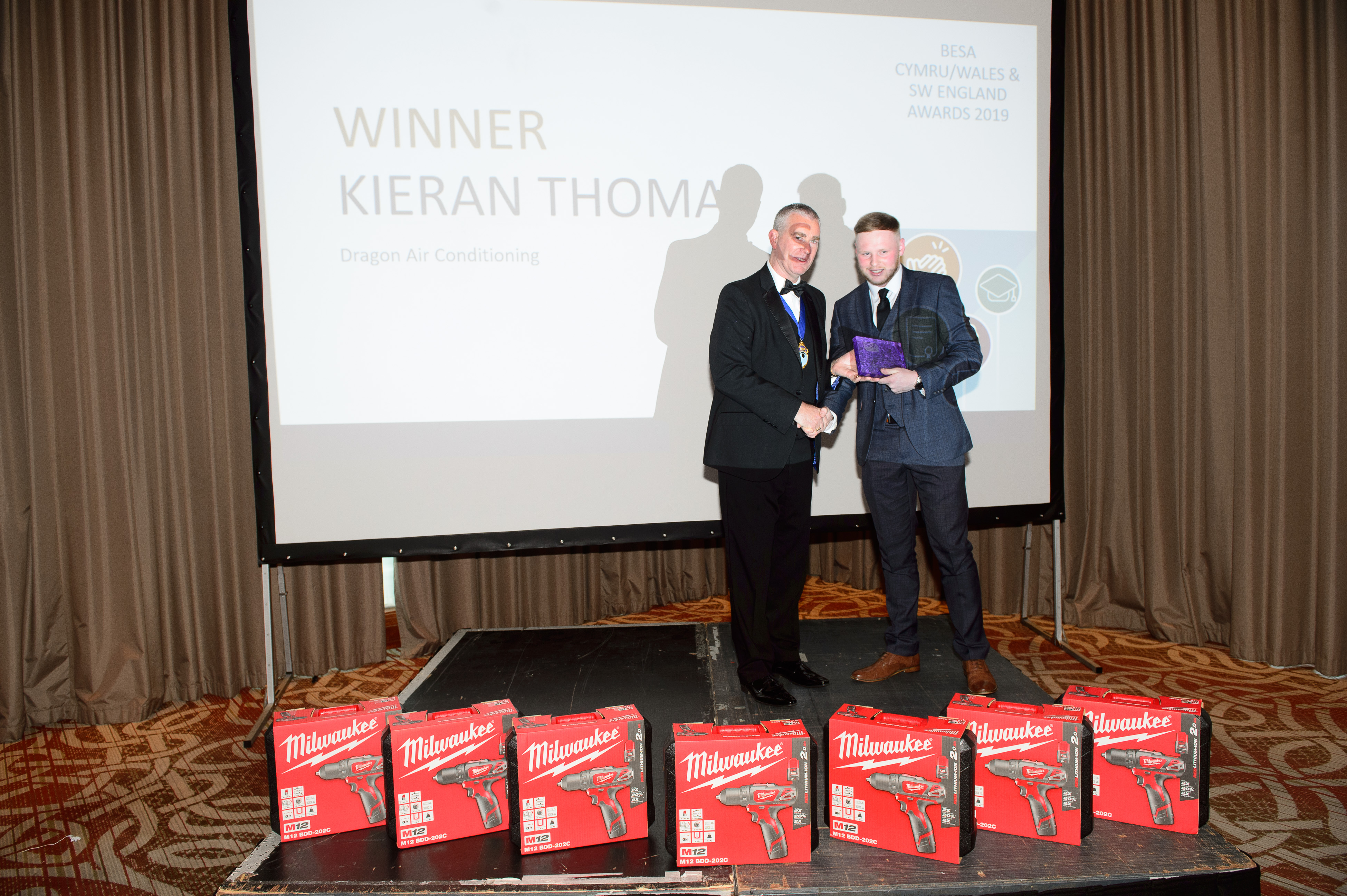 Refrigeration & Air Conditioning Apprentice of the Year, Kieran Thomas, Dragon Air Conditioning